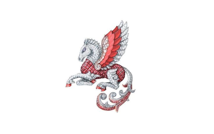 VCA. #VanCleef&Arpels #VCA #Noah'sArk #ArchedeNoé #Brooch #Broche #Animals #Animaux #Pégase #Pegasus #HighJewellery #FineJewelry #Gouaché #JewelryDesign