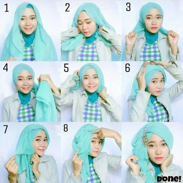 Side sweep turban #turbantutorial #hijabtutorial #stepbystep #shawltutorial #islamic