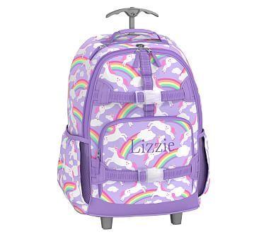 Lavender Summer Unicorn Rolling Mackenzie Backpack Baby