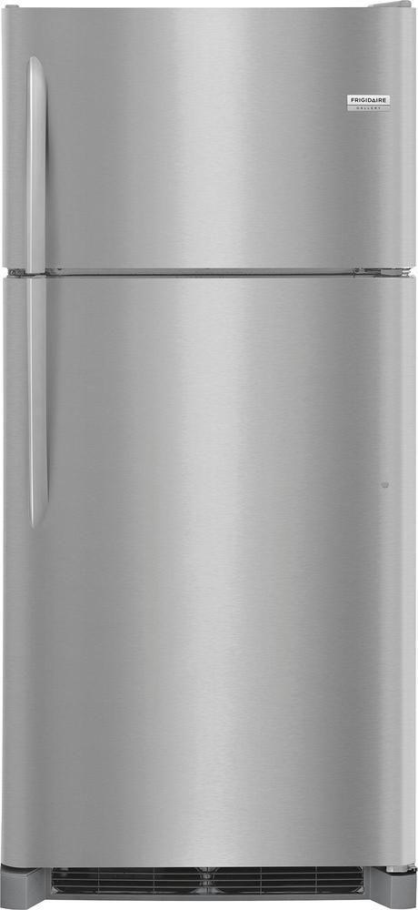 Frigidaire - Gallery 18.1 Cu. Ft. Top-Freezer Refrigerator - Stainless steel (Silver)