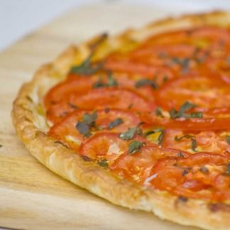 Tarte à la tomate et à la moutarde / Pie with tomato and mustard