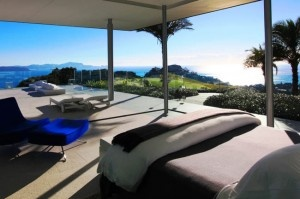 """View from the """"Blue Room"""" Rahimoana Villa, Eagles Nest. Thanks to Best In Travel Magazine for this gorgeous shot.  www.eaglesnest.co.nz"""