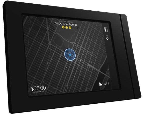 Square has created an entirely new hardware design for the back of Taxi cabs.