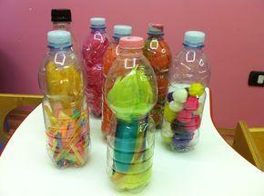 Laboratorio del riciclo creativo: le bottiglie sensoriali | from Nidozerotre