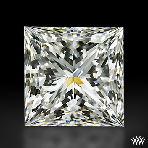 1.013 carat G color VVS2 clarity A CUT ABOVE® Super Ideal Princess Cut Diamond - Hearts and Arrows Ideal Proportions and a AGS Diamond Report. Price $7,281 www.whiteflash.com