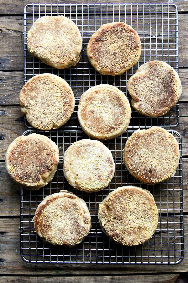 100% whole wheat English muffins, baked with @kingarthurflour 's white whole wheat flour—I am loving this stuff! Mild flavor and great texture. #lovewholegrains