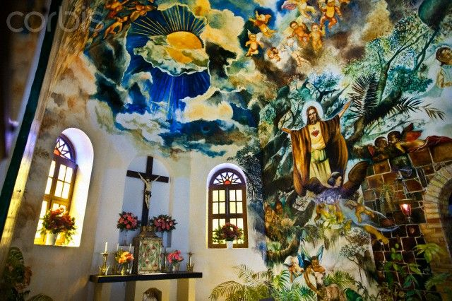 Mural by Heleen Cornet, Sacred Heart Church, Saba Island, Netherlands