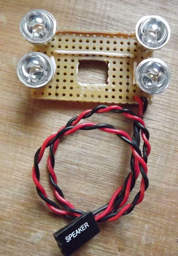 Pas facile de trouver un projecteur infrarouge adapté à la caméra infrarouge du Raspberry Pi... Après de vaine recherches, Lionel a eu... une illumination