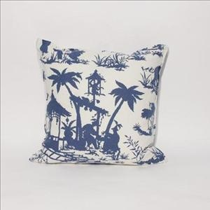 """Canton Bazaar Throw Pillow Custom made throw pillow with our """"Canton Baraar"""" fabric seen in a variety of colour tones. 18'x18' $59.95 each Other sizes and styles available. Made in Canada"""