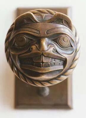"""""""beaver doorknob""""..bronze..Don Yeomans, Haida artist, Masset, BC via John Cannell Facebook  Beautiful work! - Like to have some of these!"""
