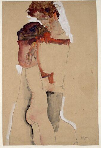 Egon Schiele, Eifersucht (Liebespaar), 1911 © Albertina, Wien