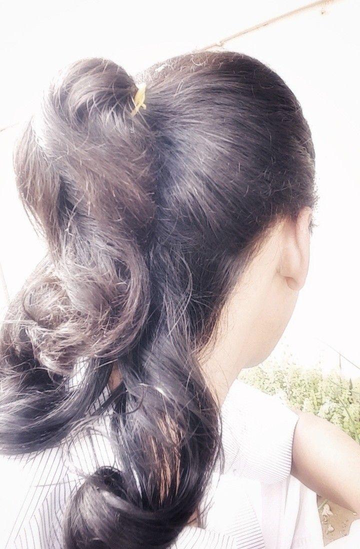 Hair Style Hairstyle Tie Ponytail تسريحة الشعر المربوط تسريحة شعر ذيل الحصان النصفية Half Ponytail