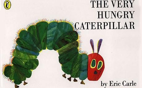 The Very Hungry Caterpillar book cover: Eric Carle, The Very Hungry Caterpillar, 40th anniversary