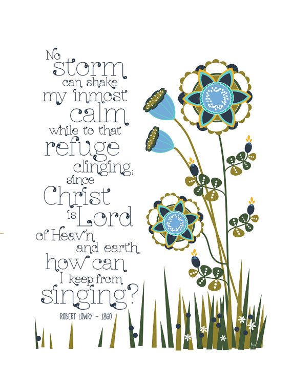How Can I Keep From Singing Art Print Hymn By