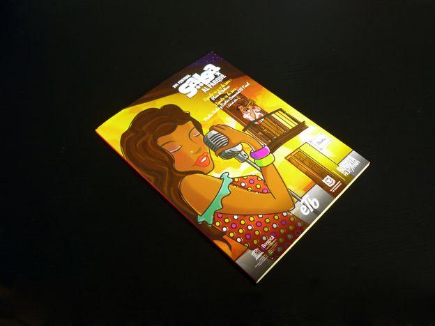 Catálogo XVI Festival Salsa al Parque Concepto, diseño editorial, diagramación, ilustración, retoque fotográfico y desarrollo. Trabajo realizado para el Instituto Distrital de las Artes IDARTES. Bogotá, 2013.    Catálogo completo: http://issuu.com/idartes/docs/catalogo_salsa_al_parque_2013 #editorial #typography #design #graphicdesign #salsa #music