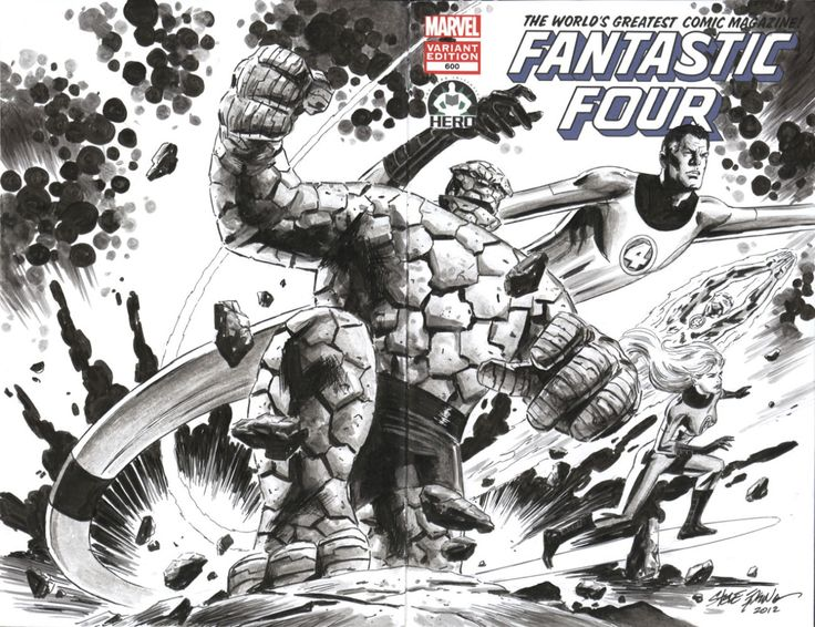 Fantastic Four #600 Covers by (in order) Dustin Weaver, Chris Bachalo, Steve Epting, Mike McKone, Emma Rios, Chris Samnee and Dale Keown.