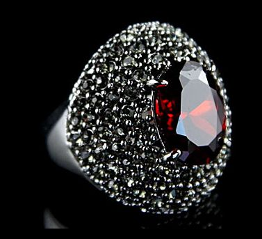 Rounded Ruby Ring