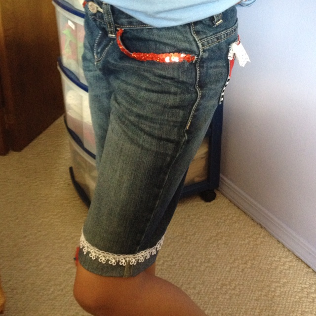 Eryn's shorts-front view.