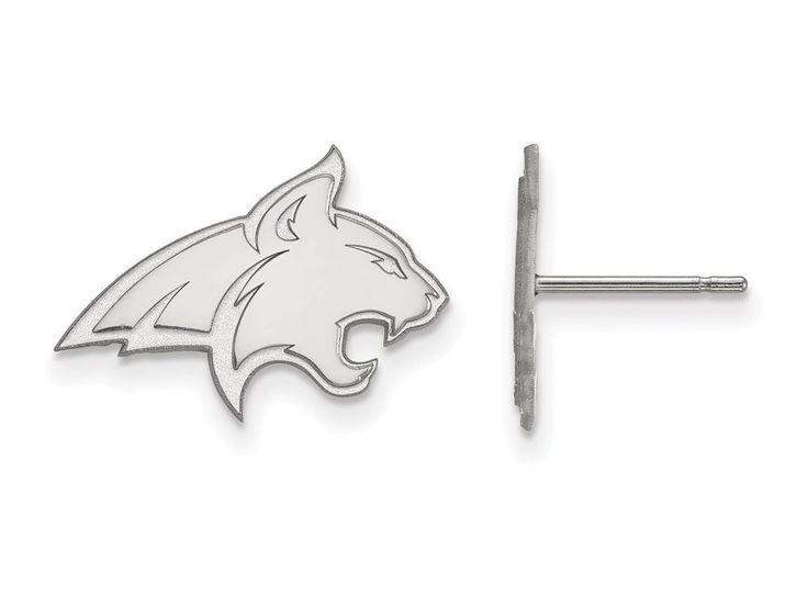 LogoArt Sterling Silver Montana State University Small Post Earrings