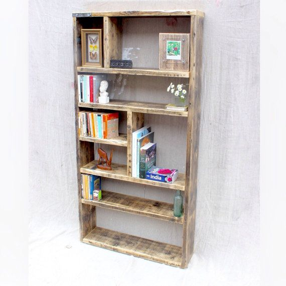 ERNST  Reclaimed Wood Bookcase  Handmade & by OldManAndMagpie