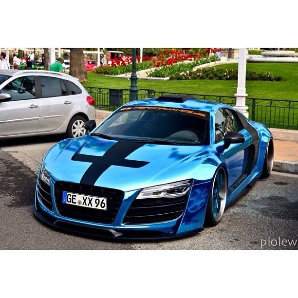 Turquoise Chrome Audi - Stance Nation