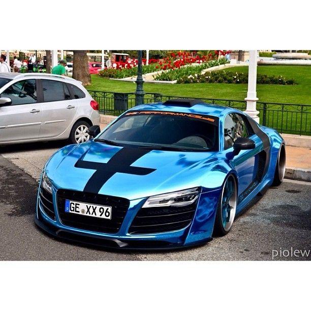Turquoise Chrome Audi - Stance Nation