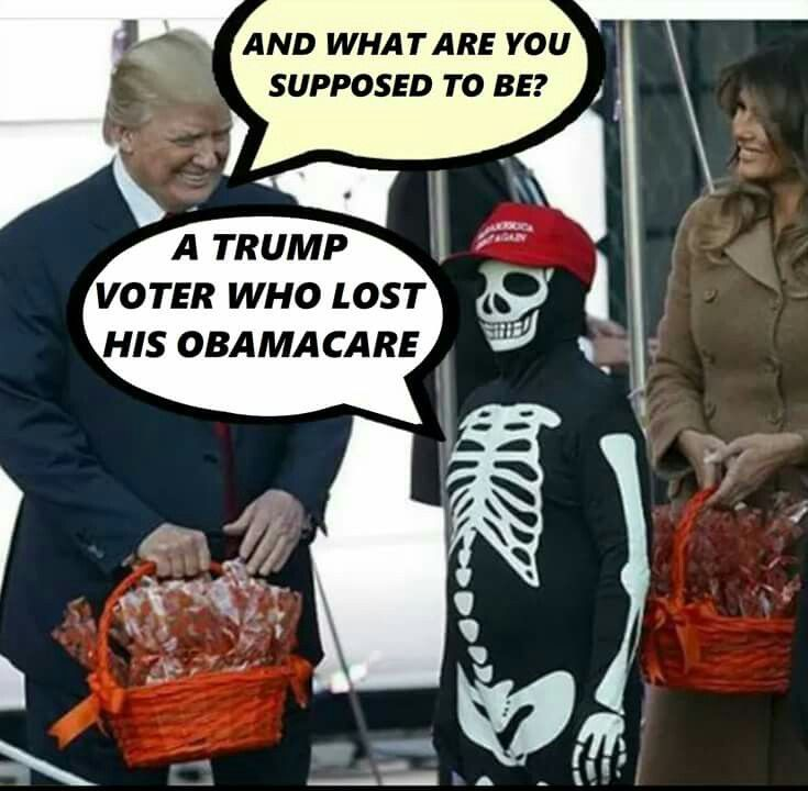 A Trump voter who lost his Obamacare