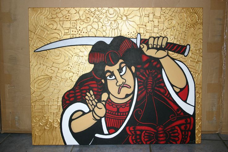 Samurai Inspired - Acrylic paint - Andrea Duregon