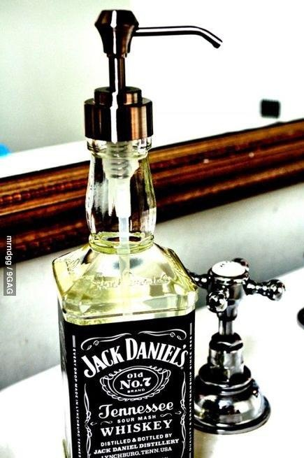 Repurposed Jack Daniels bottle....this will be my next project, love!
