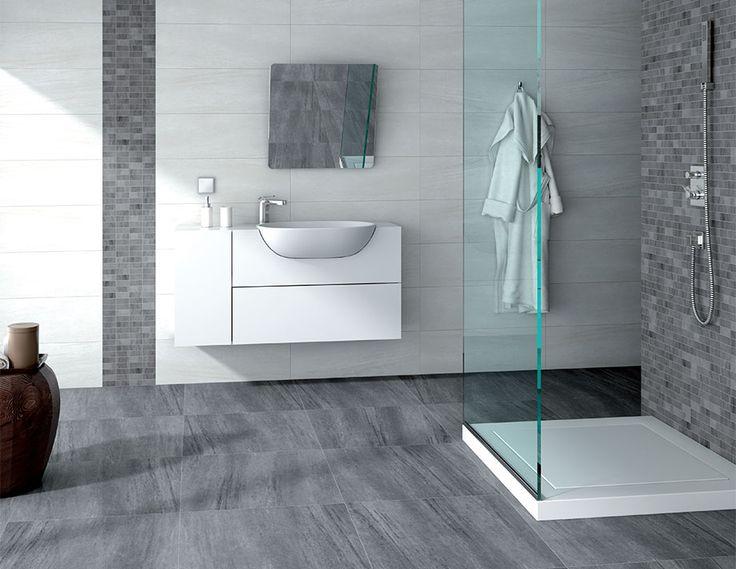 M s de 1000 ideas sobre azulejos grises en pinterest - Ceramicas para el bano ...