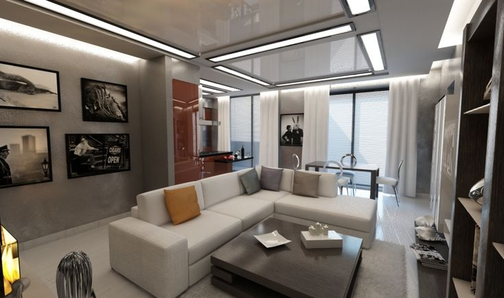 гостиная в современном стиле, интерьер квартиры в современном стиле, идея дизайна гостиной, комната для гостей, квартира в современном стиле