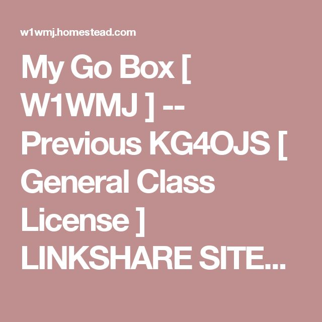 My Go Box [ W1WMJ ] -- Previous KG4OJS [ General Class License ] LINKSHARE SITES: 4 All Memory Beezid TigerDirect ToshibaDirect INDEX: About Us Contact Us Directions False WX Report False WX Report 2 Feedback ISS Contact Prep. ISS QSO Day KOHASHLA2 My Go Box News Letter Our Services Photo Album Photo Gallery WX Station Node: 125407 Mbr. ID: 228 FRONT VIEW SKB Roto Rack-6U Gator Box (3) UTR-1 Half Racks (2) front mount (1) rear mount West Mountain PWRgate and West Mountain Ri...