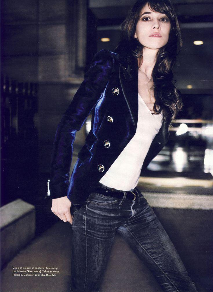 Charlotte Gainsbourg by Jean-Baptiste Mondino, French Elle November 2007.