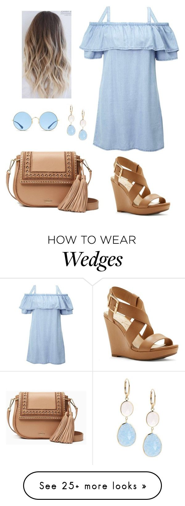 . by persik27 on Polyvore featuring Miss Selfridge, Kate Spade, Jessica Simpson, Saks Fifth Avenue and Ray-Ban