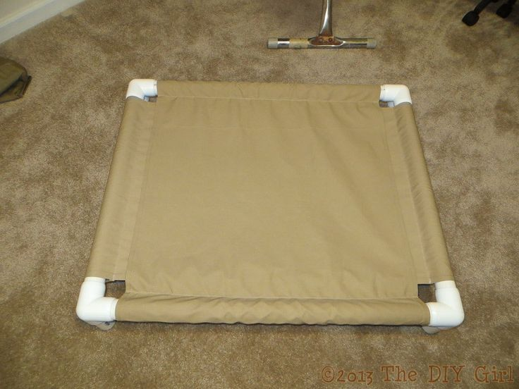 PVC Dog Cot Tutorial - TheDIYGirl.com for his extra bed or outside to keep the bugs off