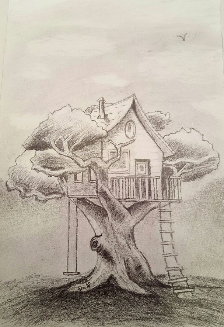 14 best mis dibujos images on pinterest - Casas en el arbol ...