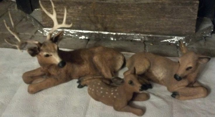 3 PIECE 1985 HOMCO DEER FAMILY FIGURINES (HOME INTERIOR) | Dream Cabin |  Pinterest | Cabin And Inu2026