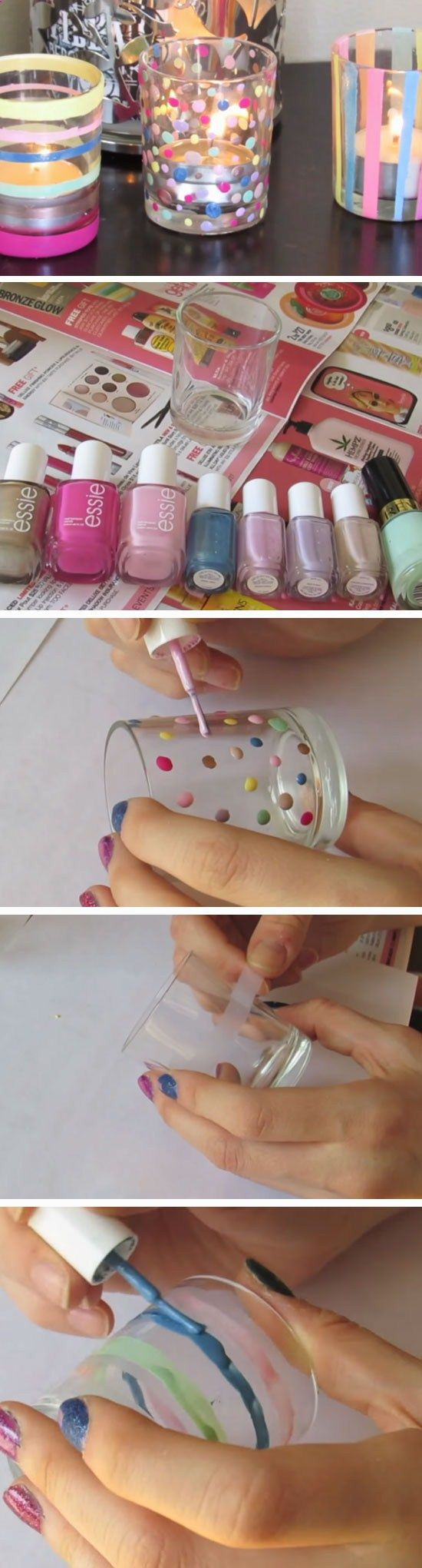 Pastel Votives | DIY Easter Party Favor Ideas for Teens | Handmade Spring Gift Ideas for Kids