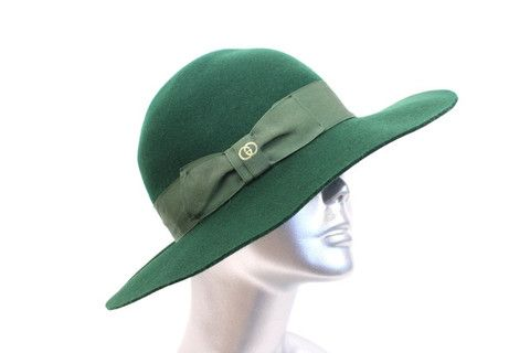 Vintage 70's GUCCI Green Hat at Rice and Beans Vintage