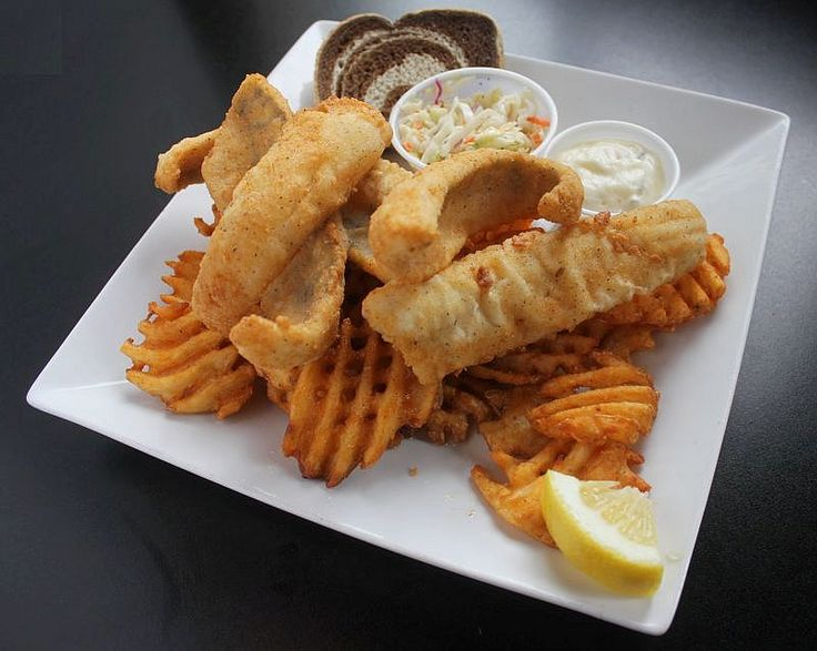 Cue Club of Wisconsin - local favorite, available Wed. & Fri. nights l  #fishfry #waukesha #wisconsin  Many fish options available including Perch (in image), Cod,Bluegill, & Walleye #waukeshafishfry (photo by Friday Fish Fry Guide)