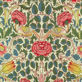 William Morris Bird & Rose Arts & Crafts Tile