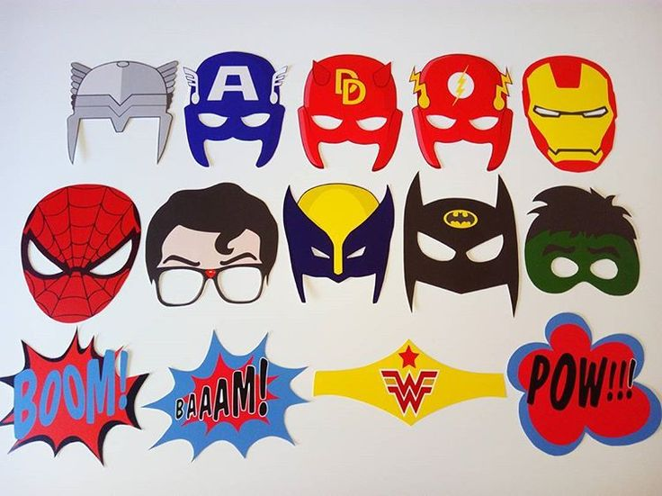 Pack super héroes de nuevo disponible! #manualidadescreativasvintage #atrezzo #props #propssuperheroes #spiderman #boda #photocall #fiesta #boda #wedding #superman #batman #flash #hulk #thor #pow #photobooth #photoboothprops
