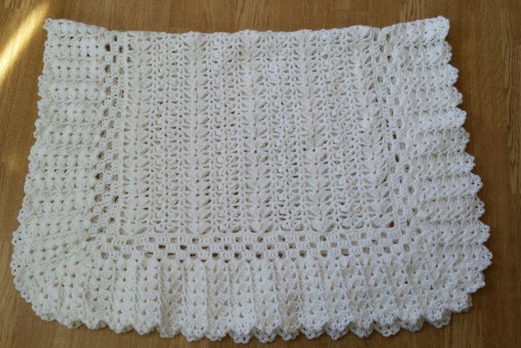 Pristine Baby Blanket, White Baby Blanket, Baby Blanket, Christening Blanket by FamilyCrochetCabinet on Etsy