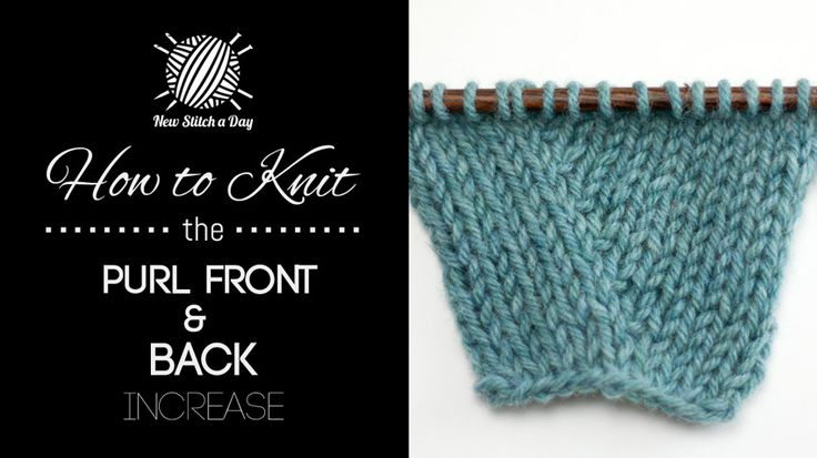 How To Decrease 4 Stitches In Knitting : How to Knit the Purl Front and Back Increase-This decrease is commonly used i...