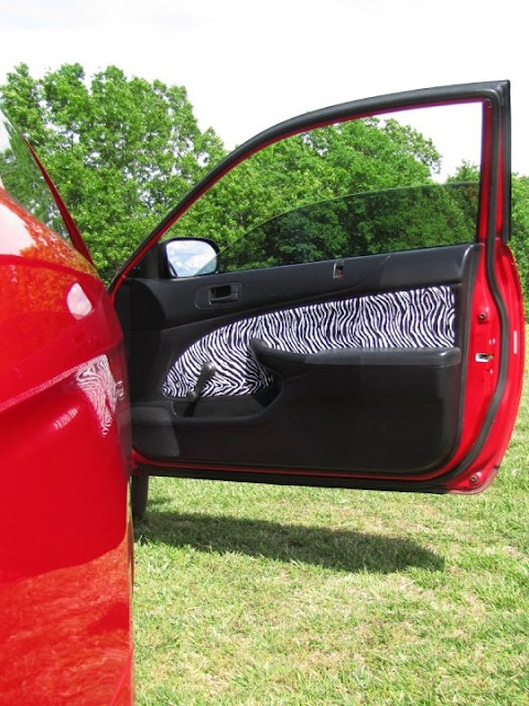 """DIY door panels. I wonder how hard this would be on Jon's car. He has faux wood paneling stuff, not really his style. I'd love to be able to """"pimp his ride"""" lol."""
