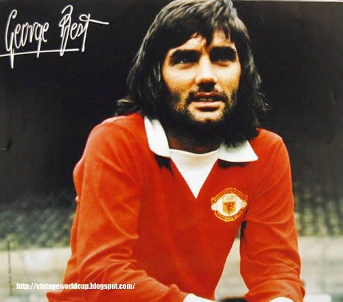 3- George Best If Maradona is good and Pele is better then George is best. The original playboy of the footballing world. His talent is still unmatched when it comes to scoring goals with that ease and class. The man who played more than 500 games for United in 11 years and took the club to great heights.♥