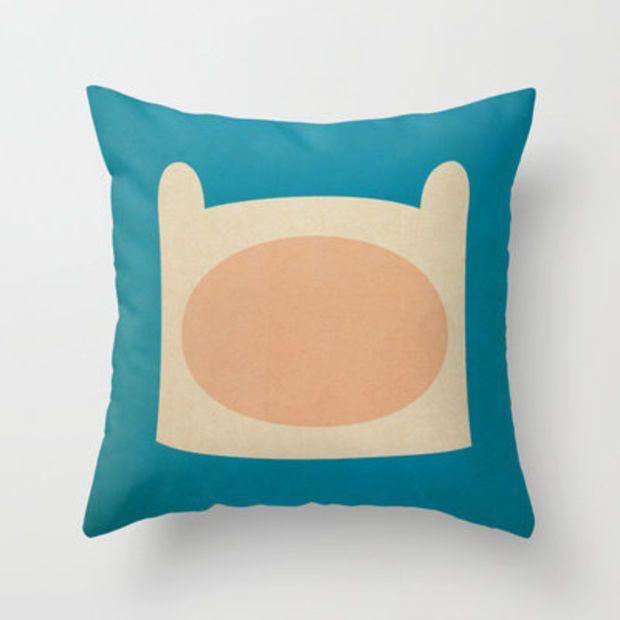 Minimalist Adventure Time Finn Throw Pillow by lalalaokay   Society6