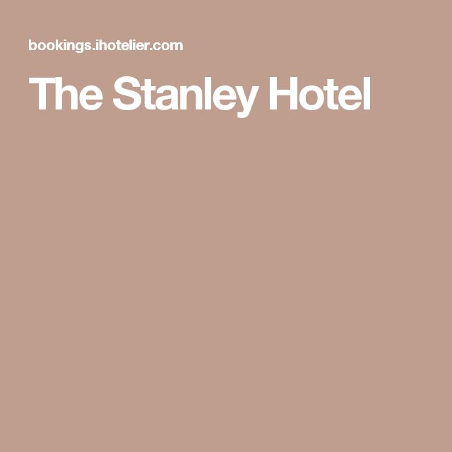 Stanley Hotel Ghost Photographed At Hotel That Inspired: 1000+ Ideas About The Stanley Hotel On Pinterest