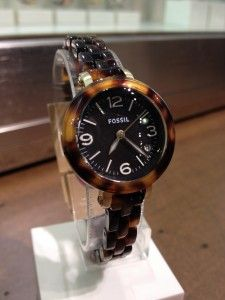 fossil tortoise shell watch on wrist - Google Search