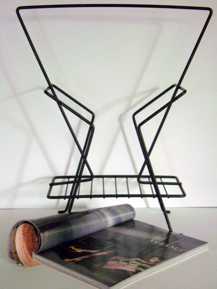 Mid Century Modern Magazine Rack $32 sold for $78 on Fab.